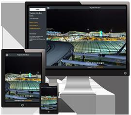 Webseite auf verschiedenen Geräten